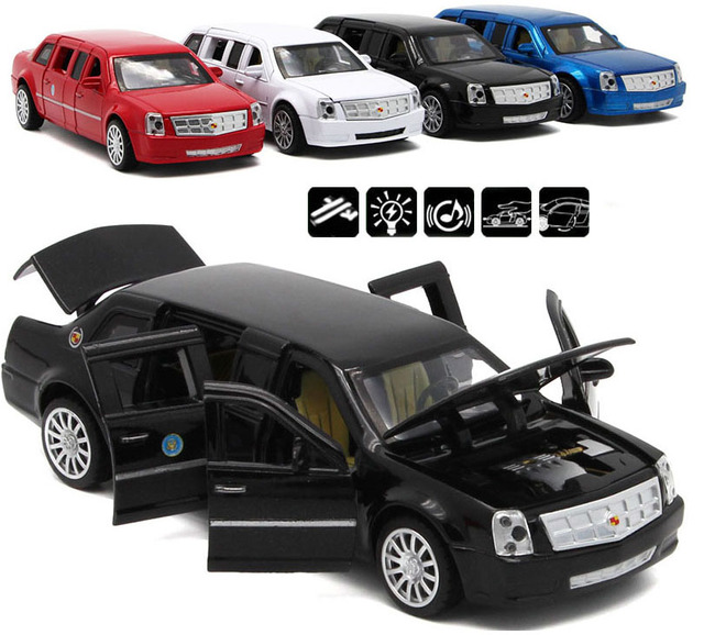 1 32 Scale Diecast Cadillac Presidential Limousine Model Metal Toys