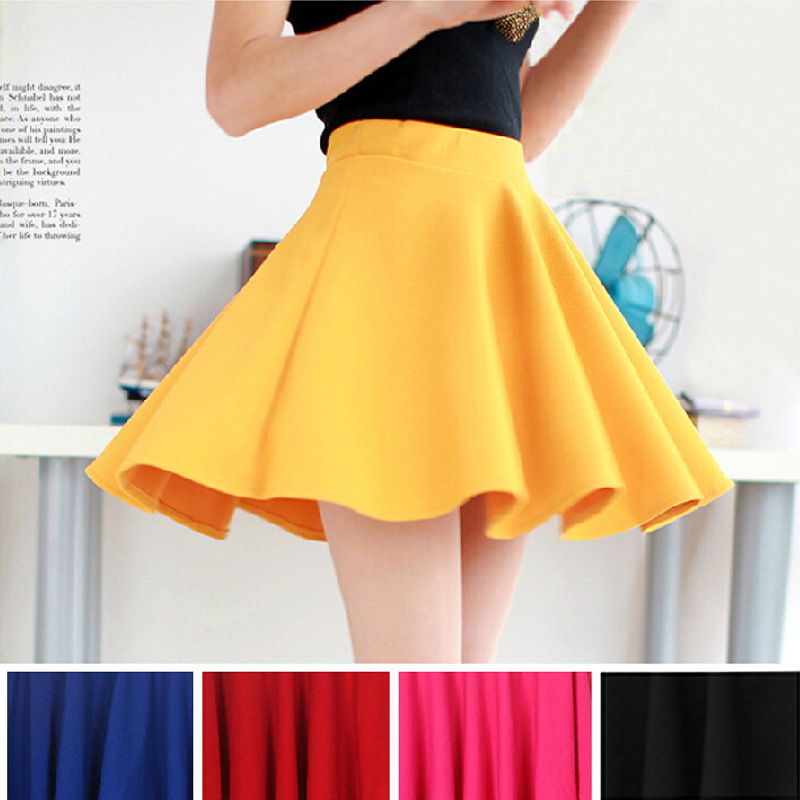 2015 Hot Women Bust Shorts Skirt Pants Pleated Plus Size Fashion Candy Color Skirts 9 Colors C718 1