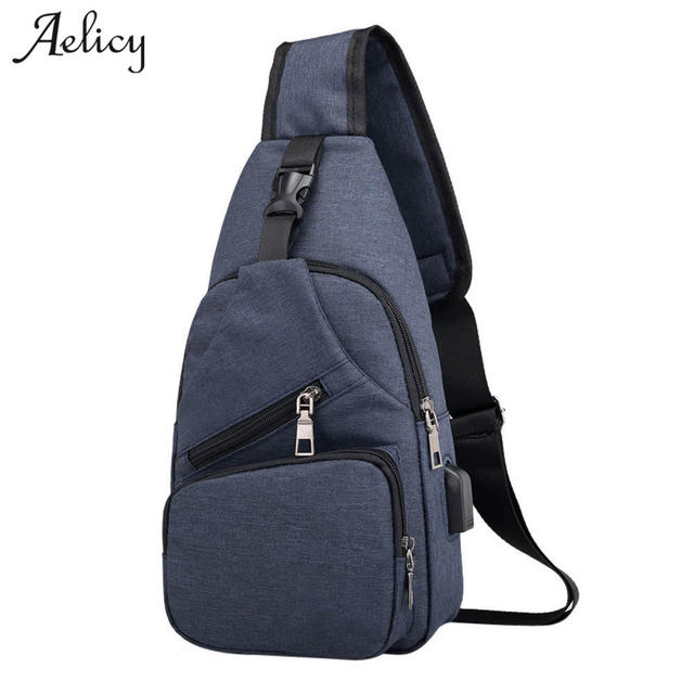 d86b43c24a Aelicy luxury Men Crossbody Bags For Women 2018 Chest Bag USB Smart Anti  Theft Shoulder Crossbody Bags for Men Chest Bag Women
