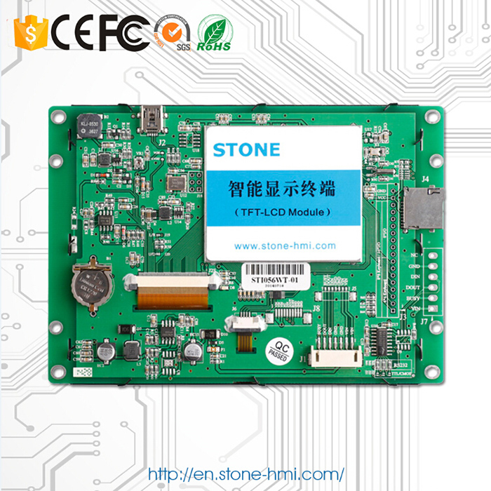 5.0 Open Frame Intelligent LCD TFT Serial Module + Touch Screen Work For Embedded System