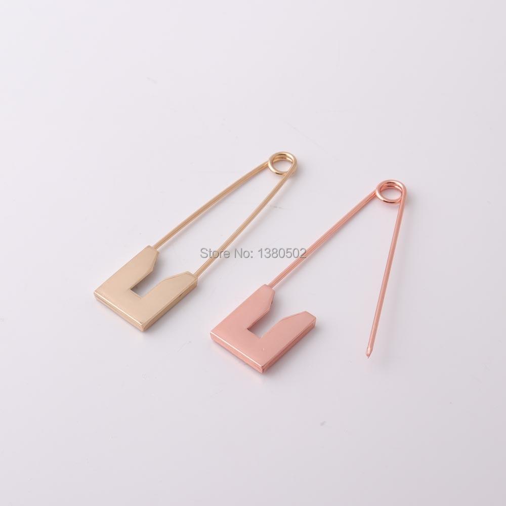 2pcs/lot 80mm rose gold color/gold /black/silver color large Safety Pins Brooch pins for garment