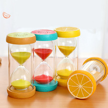 15/30/60 Minutes Hourglass Colorful Fruit Sand Timer Clock Valentines Day Wedding Gift Novetly Home Desk Decoration