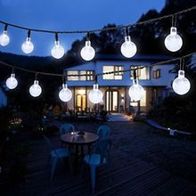 6M ball led string light Solar led Outdoor String Lights Ball Globe fairy wedding garden pendant garland decoration