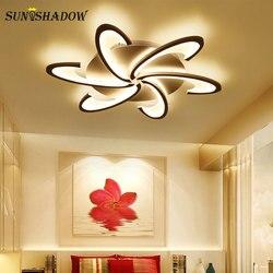 Czarny i biały Luminares nowoczesny żyrandol Led do salonu jadalnia sypialnia AC110V 220V akrylowe żyrandol sufitowy Led lampy