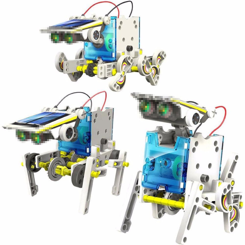 Solar Power Robot Kits Children DIY Solar Toys 13 In 1 Educational Solar Power Kits Novelty