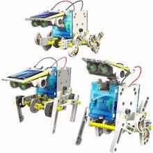 Солнечный Мощность робот Наборы детей DIY солнечной игрушки 13 в 1 образования Солнечной Мощность Наборы Новинка Солнечные роботы ребенок сборки игрушки