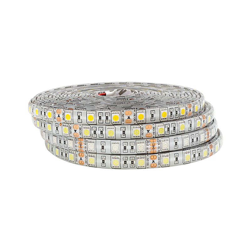 5M LED Strip SMD5050 Chip Light DC 12V Hvit Varm Hvit Kald Hvit RGB 60Leds / m IP65 Vanntett IP20 Ikke Vanntett LED Lampe