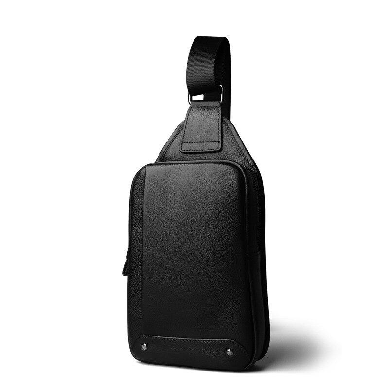 2018 Echtem Leder Männer Tasche Männlichen Brust Reisetasche Schulter Mann Umhängetaschen Männer Messenger Bags Phone Schlinge Brust Pack Kaufen Sie Immer Gut