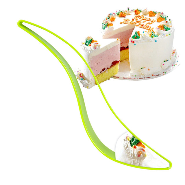 Multicolor Cake Pie Slicer Guide Sheet Birthday Wedding Cutter Server Bread Knife Kitchen Baking Tools Accessories