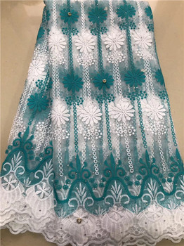 African Lace Fabric 2019 Embroidered Nigerian Stones Laces Fabric High Quality French Tulle Lace Fabric For Women JG6 фото