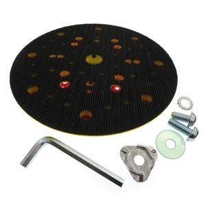 "Image 2 - 6"" 150mm 53 Hole Sanding Pad Multi functional Dust Free Backing Plate Hook and Loop"