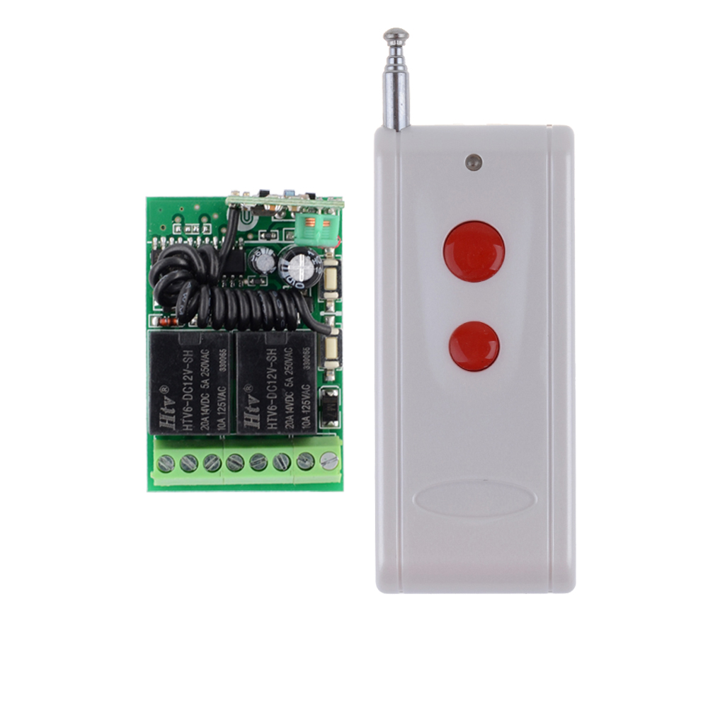 DC 12V 2CH Mini Relay Remote Control Switch Learning Code ASK Wireless Switch NO COM NC Contact RF RX TX 315/433Mhz 315 433mhz 12v 2ch remote control light on off switch 3transmitter 1receiver momentary toggle latched with relay indicator