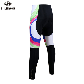 Siilenyond 2019 Women Winter 3D Gel Padded Cycling Pants Shockproof Mountain Bike Cycling Tight Racing Bicycle Cycling Trousers 1
