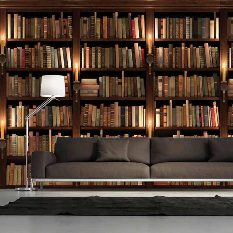 العرف صور خلفيات ثلاثية الأبعاد النمط الأوروبي الرجعية أريكة التلفزيون خلفية خلفية جدارية جدار خزانة الكتب رف الكتب جدارية ورق حائط
