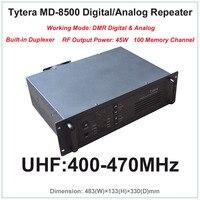 Tytera TYT md 8500 UHF 400 470 мГц DMR цифровой и аналоговый Профессиональный Двухканальные рации ретранслятора с двусторонней печати (rf Выход мощность 45