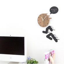 Creative Large Wooden Wall Clock Modern Design Personality Art Clocks Decorative Living Room Wood Watch Wall Stickers Home Decor