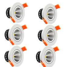 6 шт/упаковка 5 Вт 7 светодиодные светильники встраиваемые потолочные