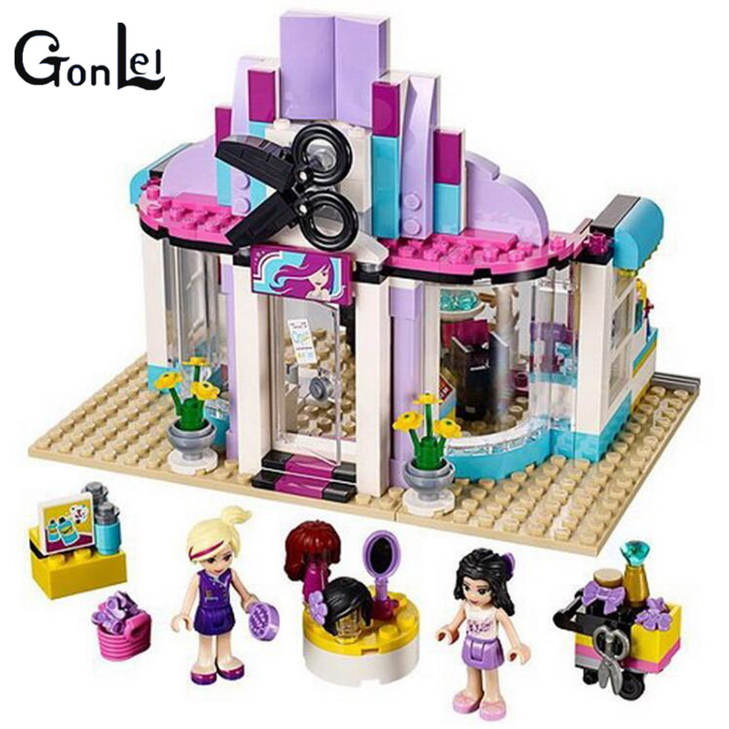 (GonLeI) 10539 Friends Series Heartlake Hair Salon Model Building Kits Blocks Bricks set Toys Christmas gift bela 10539 341pcs compatible with 41093 friends heartlake hair salon model building kits blocks bricks set toys