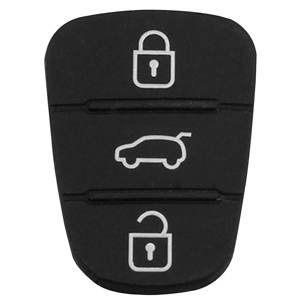 เปลี่ยนยางปุ่ม 3 ปุ่ม Rubber Pad Key SHELL สำหรับ Hyundai Kia Flip REMOTE Key FOB