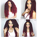 20-22inch High Quality New Senegal Crochet Twist Braid Ombre Color braiding hair 3 Style in 1 Synthetic crochet Hair Extensions