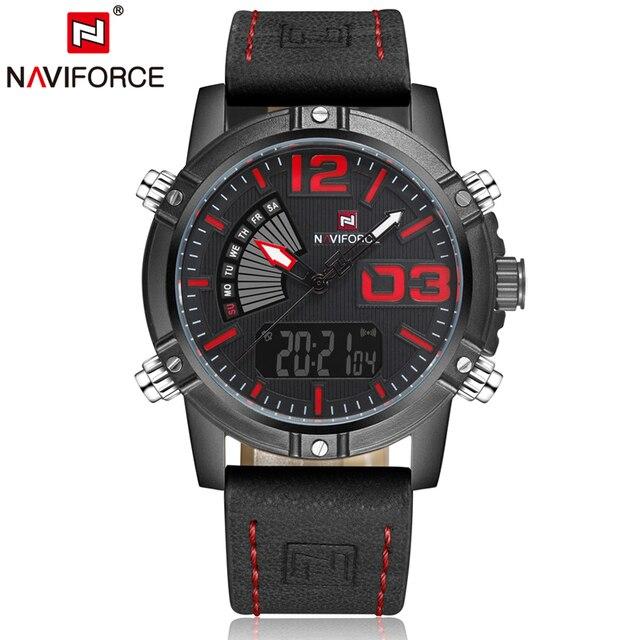 b21d522fd1a Top de Luxo Da Marca NAVIFORCE Militares Dos Homens Do Esporte Relógios de  Quartzo dos homens