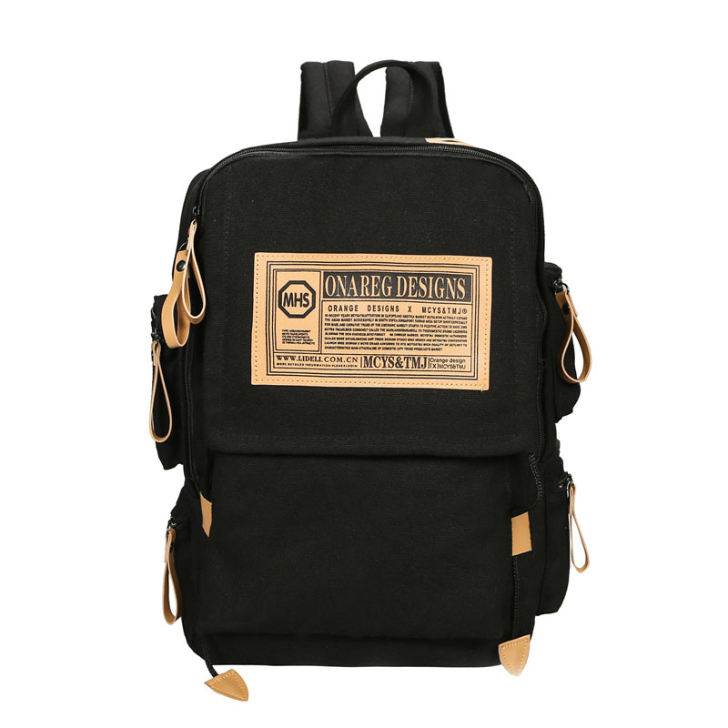 Hot sale good quality unisex women man canvas backpack female male man casual travel bag student school bag leisure bags nbxq167