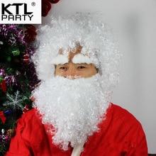 KTLPARTY 3 шт./компл. Рождественский Санта-Клаус парики три комплекта головы наборы/брови/борода Одежда Реквизит