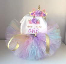 Baby Girl Summer Clothes 1st Unicorn Birthday Dress Brand Design Princess First Year Dresses Cake Smash Outfit Costume
