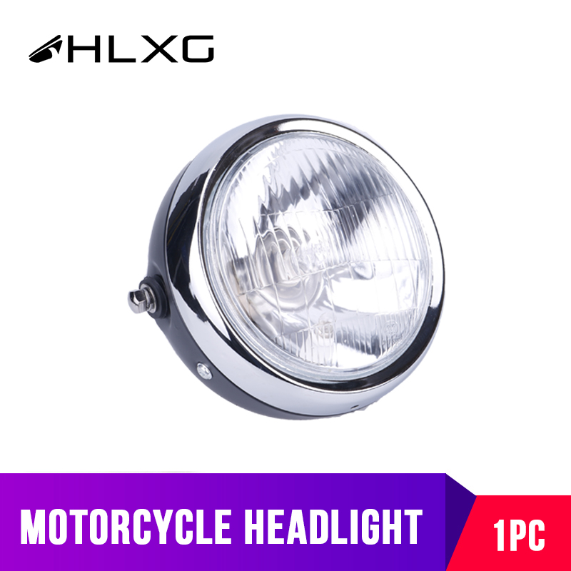 1PC Automobiles Motorcycles Accessories Parts Lightings Headlight Bulbs Vintage Round Scooter Motorbike farol moto DC 12V White