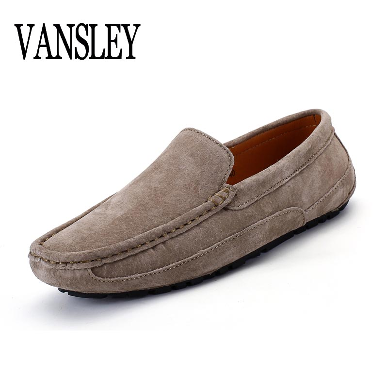 New Spring Autumn Early Winter Slip On Mens Cow Suede Loafers Breathable Men Casual Leather Shoes Brand Designers Moccasins