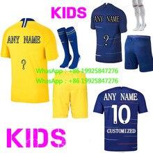 d4defdf7344 best quality Home away Chelseaes Kid Kit RONALDO DYBALA 2018 2019 HIGUAIN soccer  jersey football 2018 shirt child Free shipping