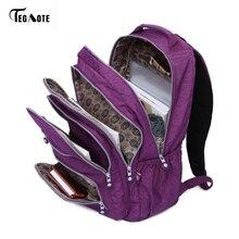 TEGAOTE School Bag Waterproof Nylon Brand Laptop Backpacks For Teenager Women Backpack Leisure Shoulder Bags Computer Packsack