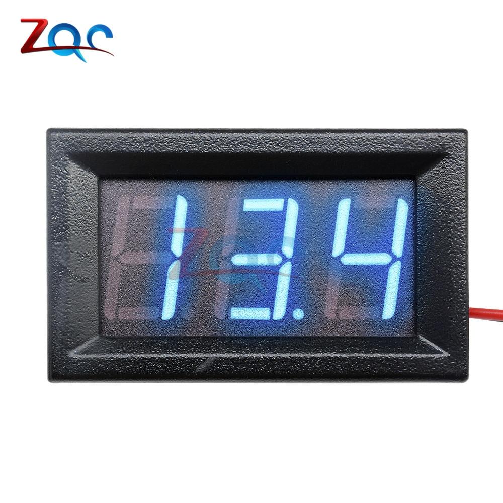 HTB15D4pXlOD3KVjSZFFq6An9pXaM 0.56'' Mini LED Digital Voltmeter Detector DC 0-100V 12V 24V Voltage Capacity Monitor Volt Panel Tester Meter For Motorcycle Car