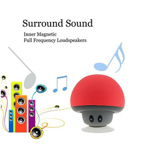 Image 5 - חדש אלחוטי Bluetooth מיני רמקול פטריות עמיד למים סיליקון יניקה Handfree מחזיק נגן מוסיקה עבור Iphone אנדרואיד