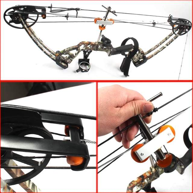 US $45 0 |Compound Bow Press L Bracket Adapter Portable Bowmaster String  Changer for Full Split Limb Adjust Repair Accessories full set-in Bow &  Arrow