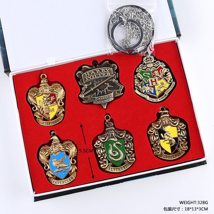 6pcs/set Harri Potter Magical School badges toy expecto patronum Gryffindor Brooches key ...