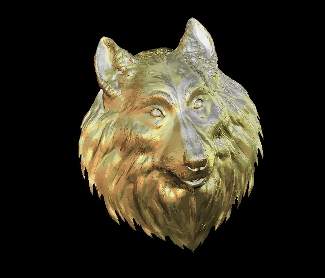 Wolf Head 3D Model Relief STL Model For CNC Router Carving Engraving Artcam Type3 Aspire M414