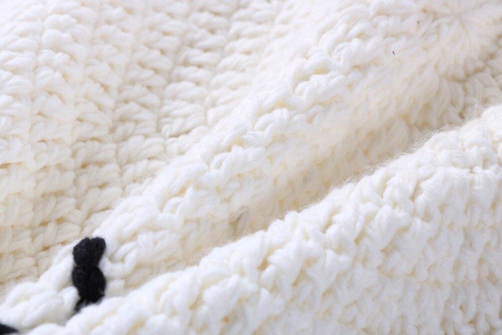 Blanco puro lindo conejo patrón de crochet tejida alfombras redondas ...