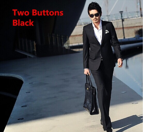 two buttons black