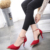 Mujeres Suede Bombas Tacones Altos Mujeres Bombas Sexy Tacones lejanos zapatos de Las Mujeres Del Dedo Del Pie Puntiagudo Tacón Inferiores Rojos de Las Señoras de La Boda zapatos