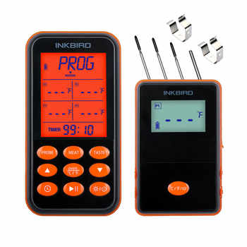 Inkbird Remote Wireless BBQ Thermometer IRF-4S Four Probes, 1000 Feet Signal, 1000mAh Li-Battery USB Charging Cable - DISCOUNT ITEM  10% OFF All Category