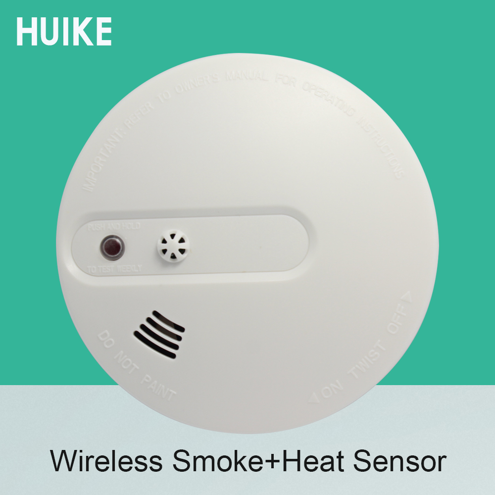 1 PCS Photoelectric Smoke And Heat Detector Wireless 433MHz GSM Alarm System 9V Battery Fire Control home protection Sensor wireless smoke fire detector for wireless for touch keypad panel wifi gsm home security burglar voice alarm system