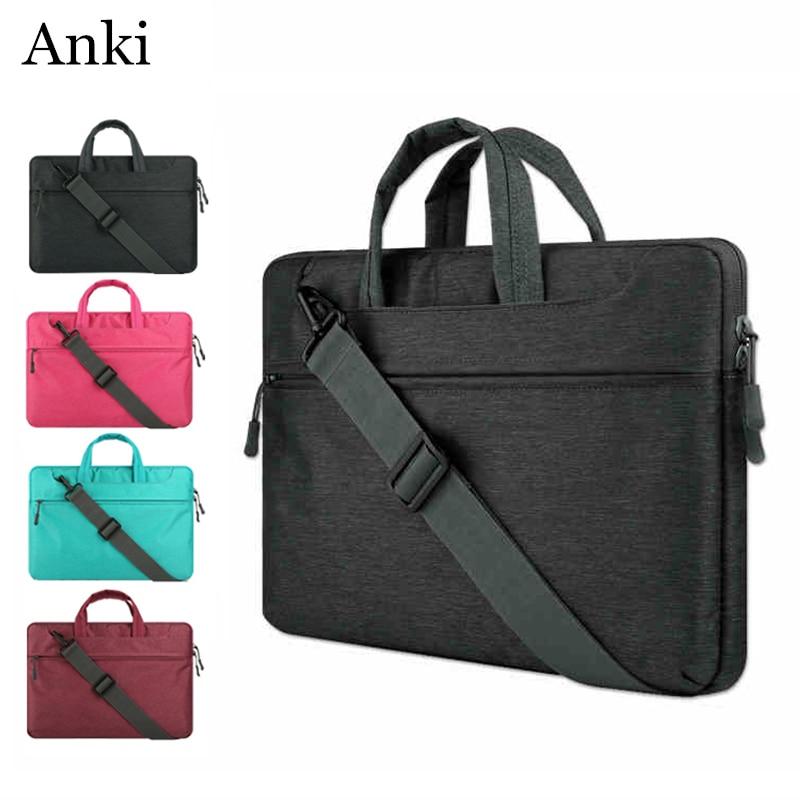 Anki 2017 Newest Laptop Bag Notebook Sleeve Briefcase Handbag Pouch For MacBook Air Pro Retina Lenovo Dell HP 14 15.6 Men Women