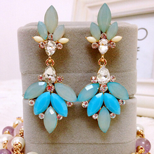 Fashion Crystal Acrylic Flower Drop Earrings for Women Jewelry Wholesale and Retail Luxury Gfits