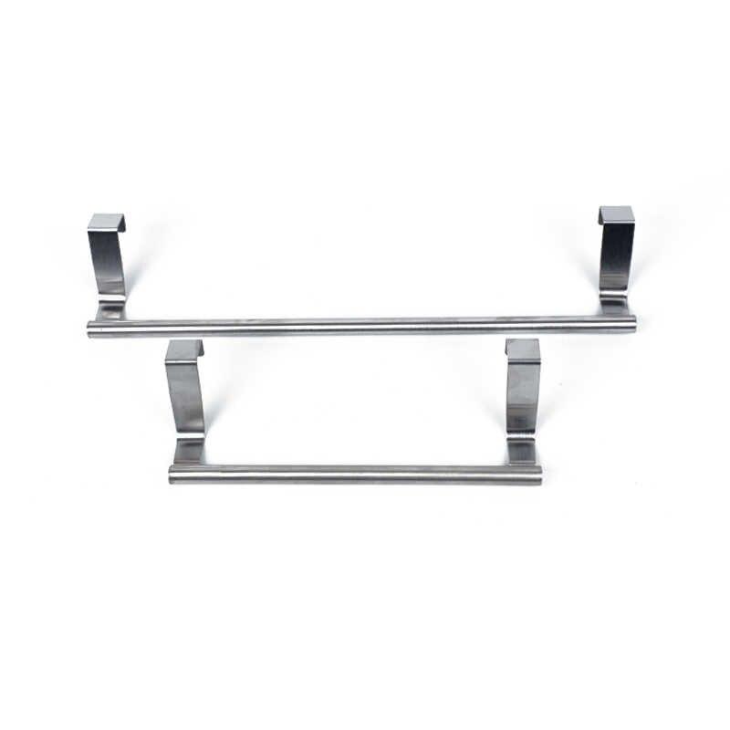 Stouge 1pc ステンレス鋼浴室タオルスタンドラックキッチン食器棚ハンガーキャビネットドア胸雑貨収納棚