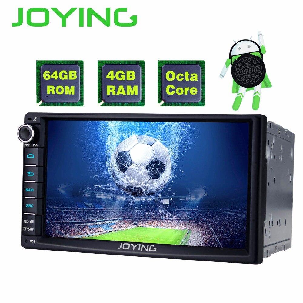 JOYING Latest 4GB RAM 64GB ROM HD 2 Din Universal 7'' Android 8.1 Car autoradio audio HU head unit GPS stereo with apple-carplay стоимость