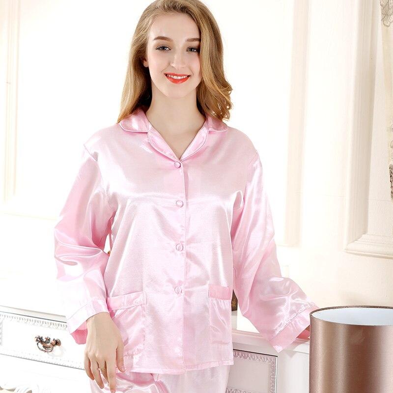 c2134f0f29 Yuzihua High-grade Silk Pajamas Pyjama Femme Pink Pyjamas Women Sleepwear  Satin Pijamas Mujer Nightwear Pijama Feminino Pajama
