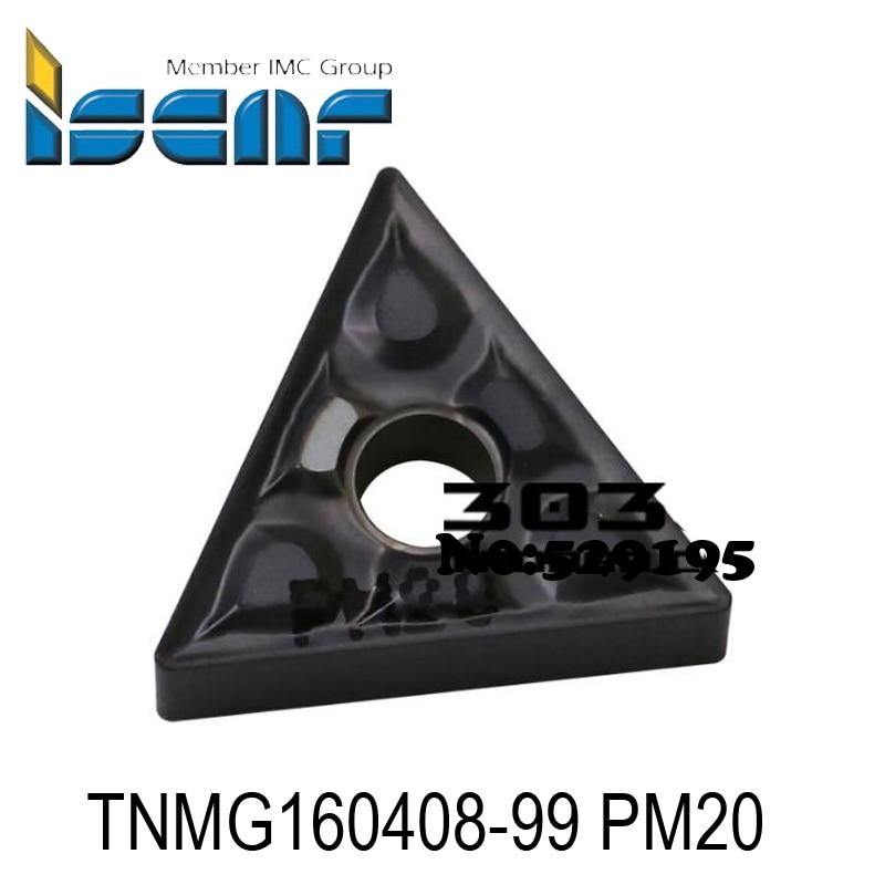 Original Iscar 10pcs TNMG 160408 TNMG160408-99 PM20 Turning Tool Carbide Inserts Lathe Tools Cutter CNC Utensili Tornio