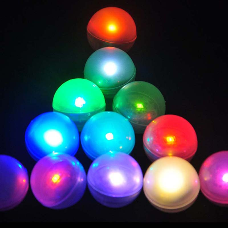 12Pcs/lot IP68 Waterproof LED Glowing Floating Ball Vase Light Multicolor Underwater Submersible Light for Aquarium Christmas