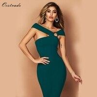 Ocstrade Bandage Party Dresses 2018 New Arrivals Green Bandage Bodycon Rayon Dress Sexy Off Shoulde Knee Length Bandage Dress